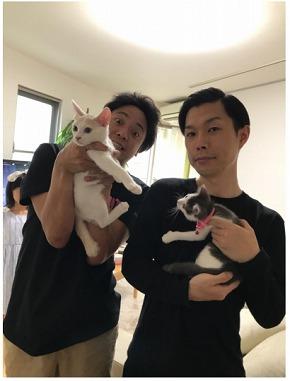 """「超絶大切にします!!!」 サンシャイン池崎、2匹の保護猫""""風神&雷神""""を引き取って超ハイテンション"""