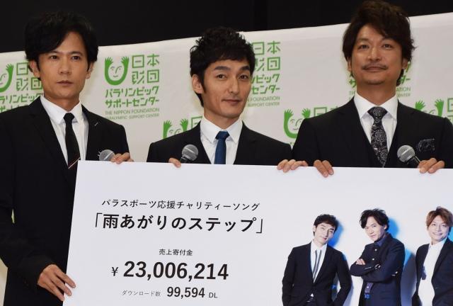 稲垣、草なぎ、香取 2300万円を寄付…パラスポーツに貢献