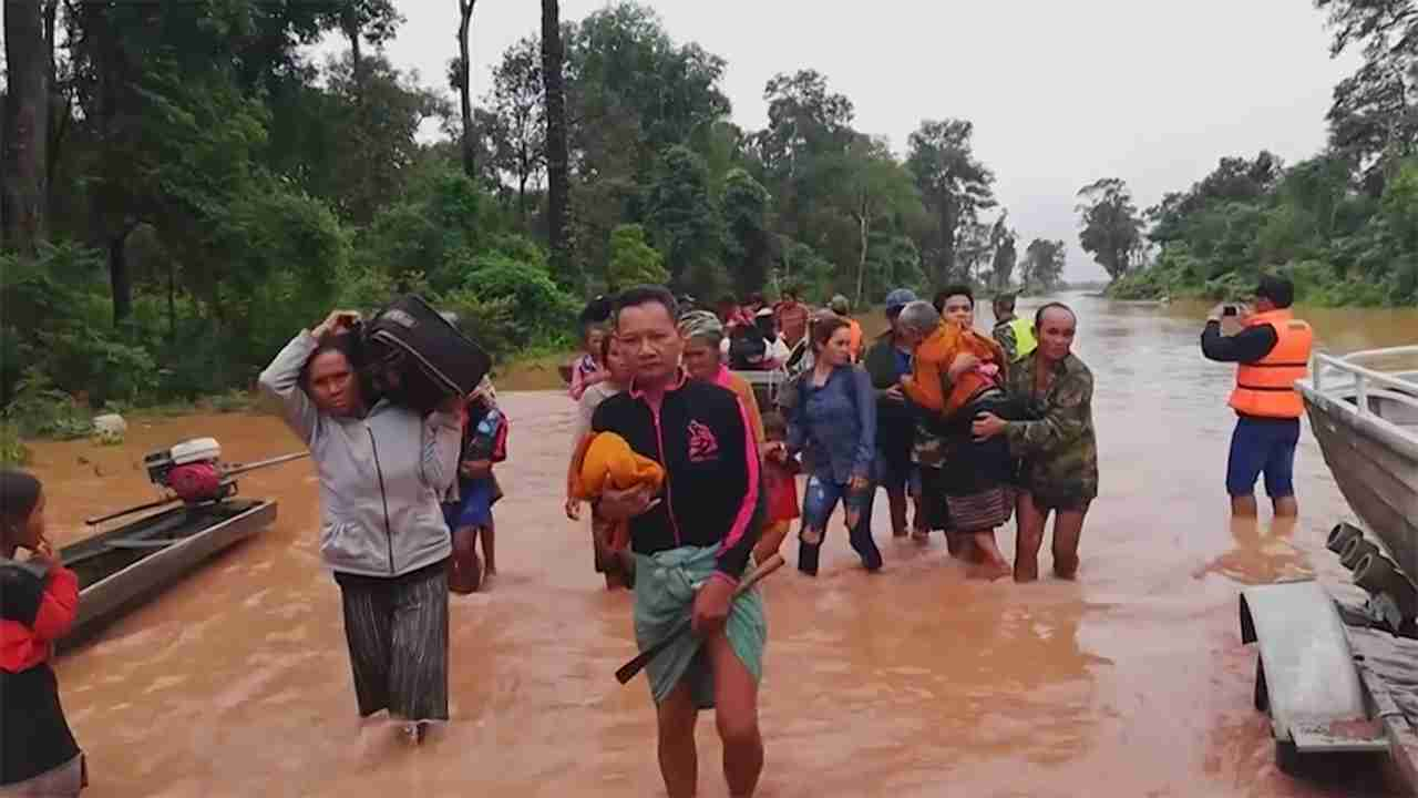 韓国企業は「決壊ではない」 ダム決壊で300人不明 ラオス南部 - FNN.jpプライムオンライン