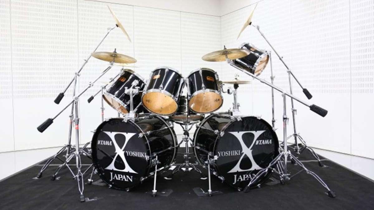 YOSHIKI、愛用ドラムセットを震災復興チャリティーオークションに出品   BARKS