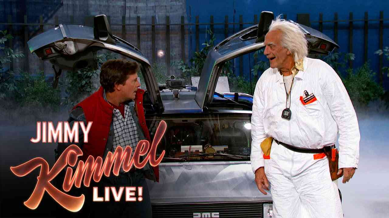 Marty McFly & Doc Brown Visit Jimmy Kimmel Live - YouTube