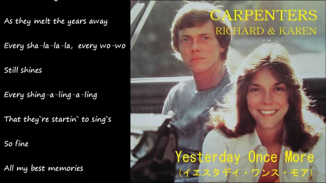 Yesterday Once More (イエスタデイ・ワンス・モア) / CARPENTERS - YouTube