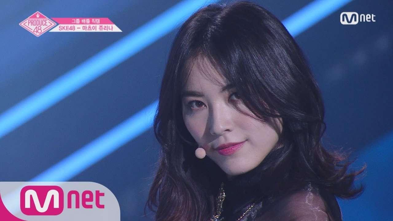 PRODUCE48 [단독/직캠] 일대일아이컨택ㅣ마츠이 쥬리나 - 레드벨벳 ♬피카부_1조 @그룹 배틀 180629 EP.3 - YouTube