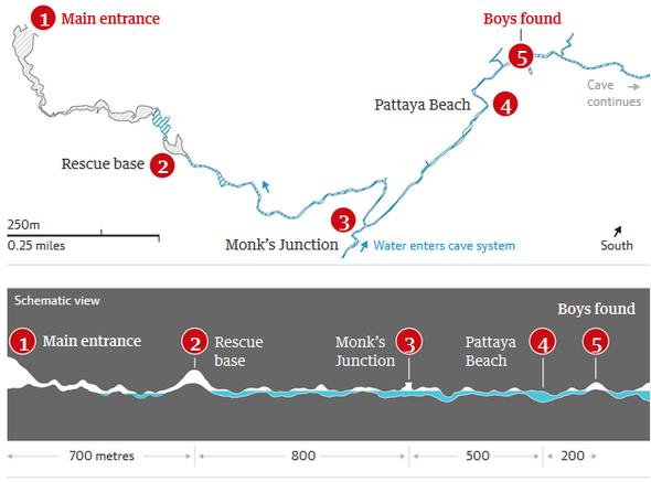 タイ 洞窟の少年を救出活動中のダイバーが死亡