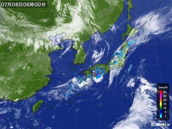 あす朝までに更に100ミリ以上の雨の所も(日直予報士 2018年07月08日) - 日本気象協会 tenki.jp