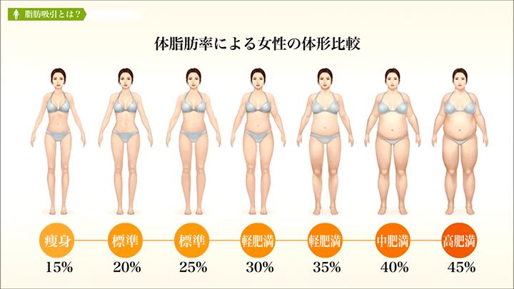 体脂肪率、何%からがデブですか?