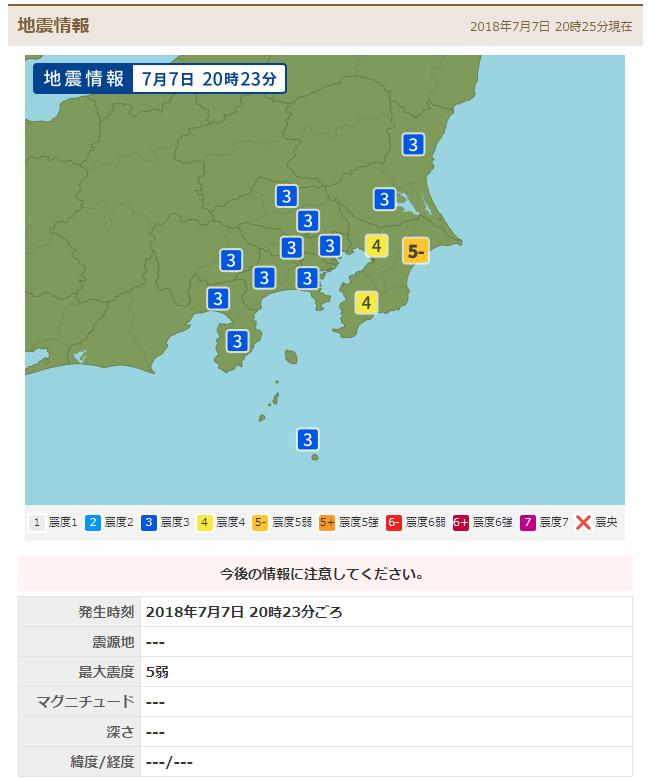 【緊急地震速報】千葉県で震度5弱を観測する強い地震が発生、M6.0 津波の心配はなし ネット上の反応まとめ | GirlyNews