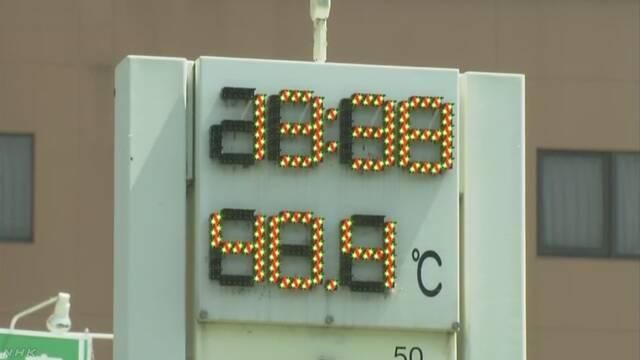 岐阜・多治見市で気温40度観測 40度以上は平成25年以来