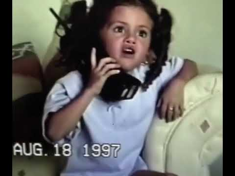 Selena Gomez talking to her mother on the phone when she was a child - YouTube
