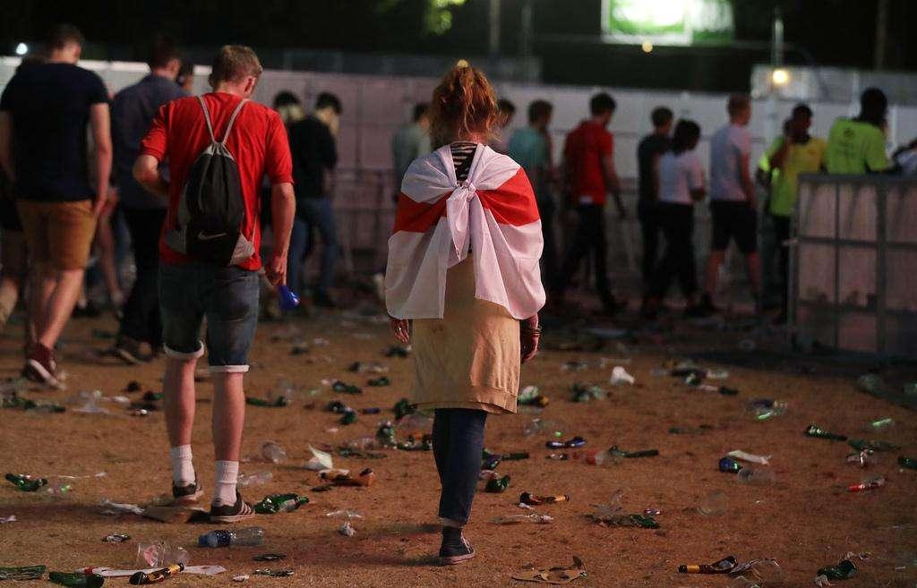 【画像】イングランドがクロアチアに破れた直後のロンドンの様子をご覧ください