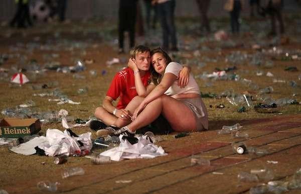 痛いニュース(ノ∀`) : 【画像】 イングランドがクロアチアに破れた直後のロンドンの様子をご覧ください - ライブドアブログ
