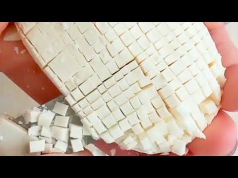 ASMR Soap Carving ❗️石鹸をカッターでひたすら切る、削る 動画集 - YouTube