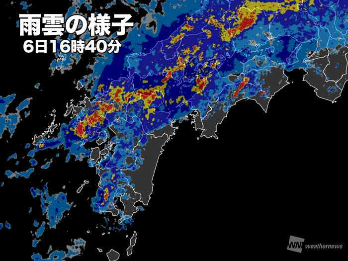 福岡、佐賀、長崎で大雨特別警報が発表