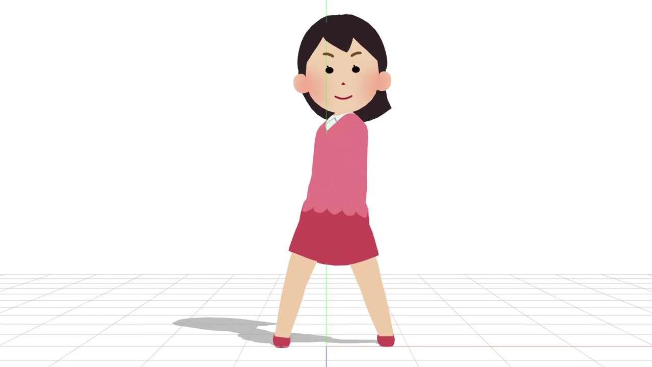 """""""いらすとや風""""MMDモデルが超絶完成度 最近よく見るピンク服の女性が動いたああぁぁっ!"""