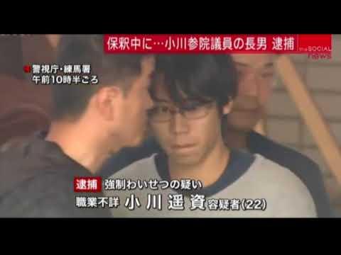 立憲民主党 小川勝也議員の長男、保釈中の容疑で逮捕 小学生女児に強制わいせつ