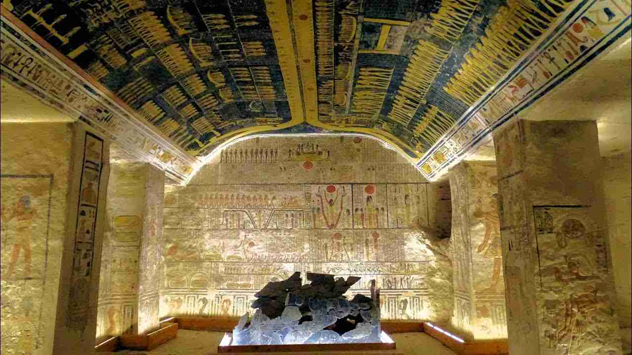 The tomb of Ramses V and VI in the Valley of the Kings Egypt. - YouTube