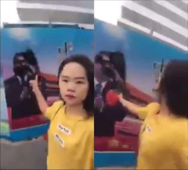 【動画】中国の独裁政権に反対する女性 習近平にインクをぶちまける動画を公開したところ警察に連行され消息が途絶える | ゴゴ通信