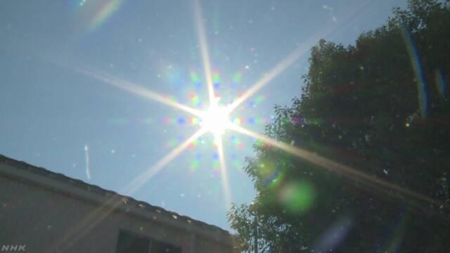 猛烈な暑さ きょうも40度近くの場所も 熱中症に警戒を | NHKニュース