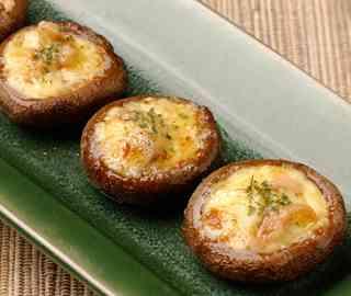 たこわさびと椎茸のマヨネーズ焼き|レシピ|酒盗(しゅとう)といえば、しいの食品