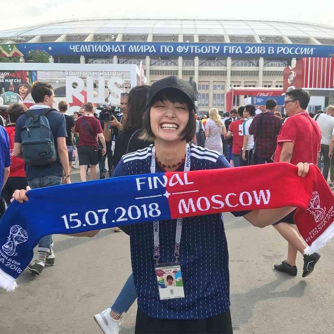 剛力彩芽さんはInstagramを利用しています:「フランス、おめでとうございます♡MBAPPE選手のスピードはすごかった。感動をありがとうございます!#fifaworldcup#russia2018 #france#croatia#感動#お疲れ様でした!」