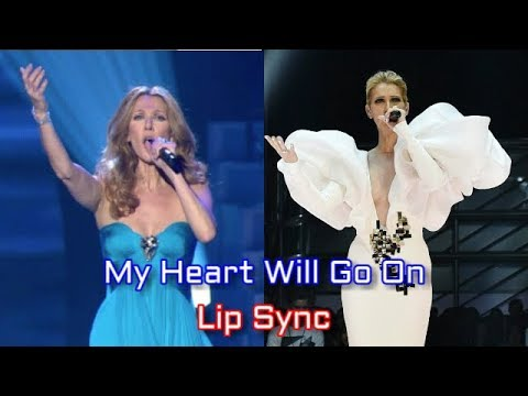 Celine Dion - My Heart Will Go On - Lip Sync (side by side) - YouTube
