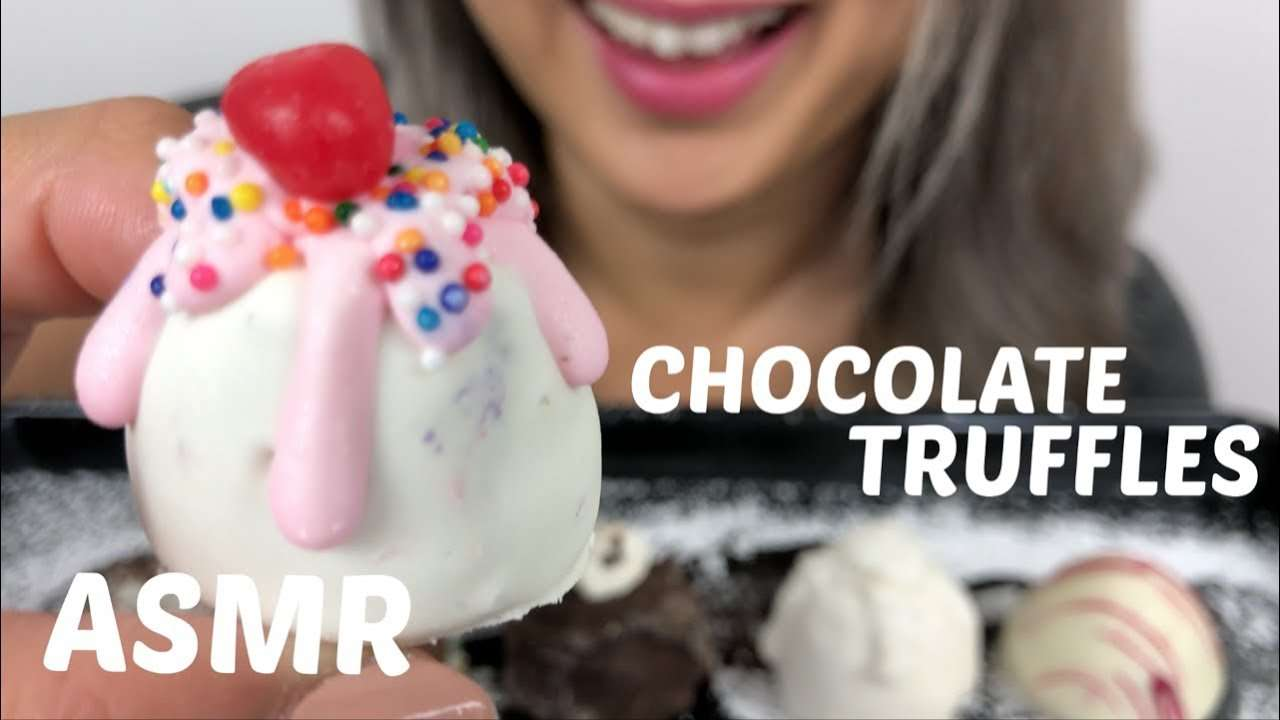 ASMR *No Talking | CHOCOLATE TRUFFLES | Eating Sounds | N.E Let's Eat - YouTube