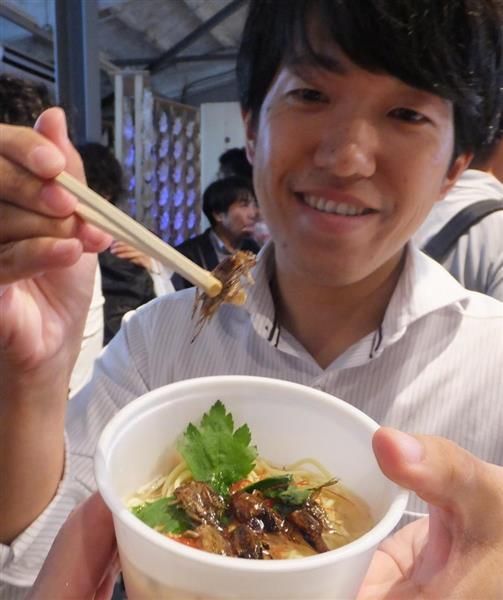 【近ごろ都に流行るもの】昆虫食いまやグルメに コオロギラーメンは有名えびそば店の味!? 品切れ人気メニューも(1/4ページ) - 産経ニュース