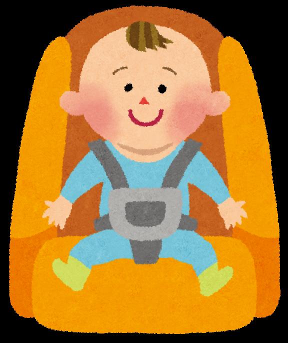 助手席にチャイルドシート乗せてる人