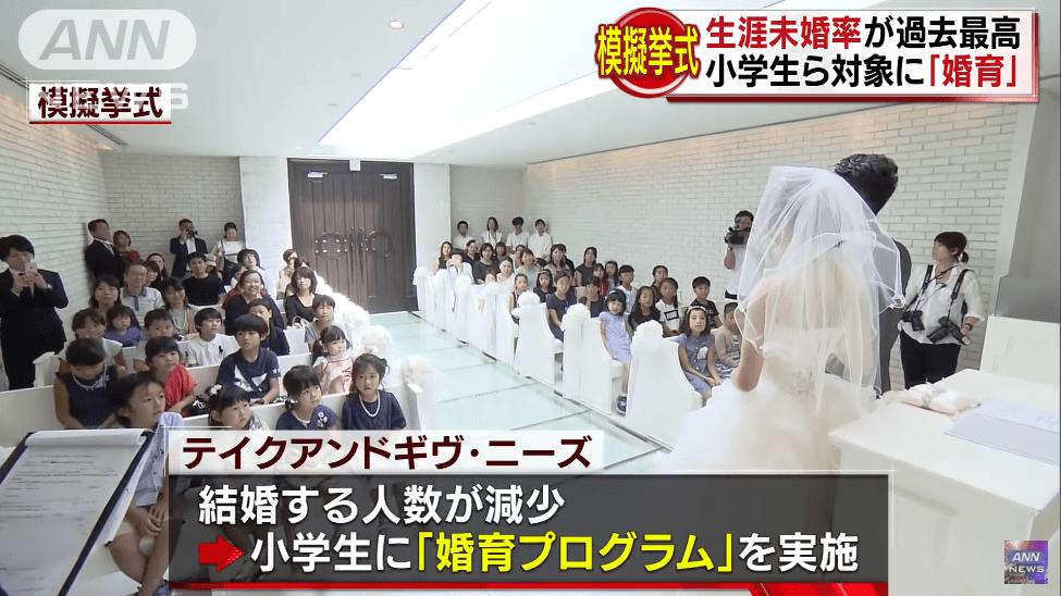 【炎上】小学生に婚育プログラム、結婚率が過去最低だから