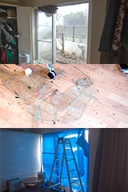 台風時に窓ガラスが割れたらどうなるのか - デイリーポータルZ