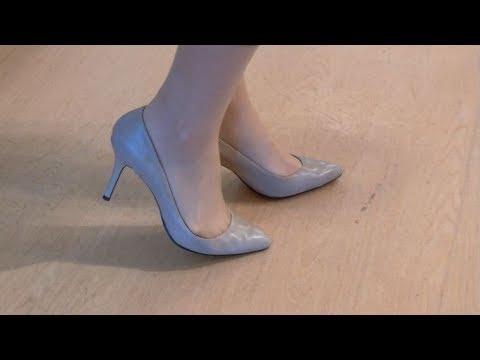 レディース・オーダー靴 高さ9cmのヒールで走っていただきました。【株式会社オーシマ】 - YouTube