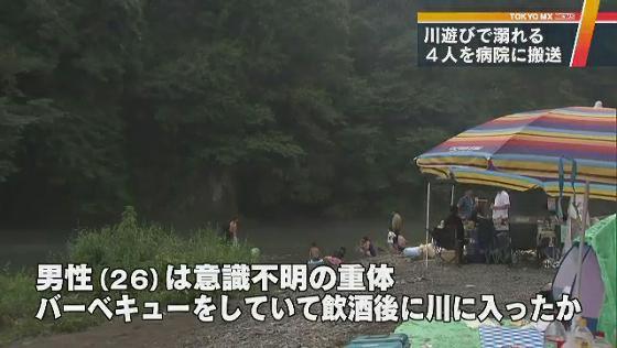 水の事故相次ぐ 男女2人が溺れる   TOKYO MX NEWS