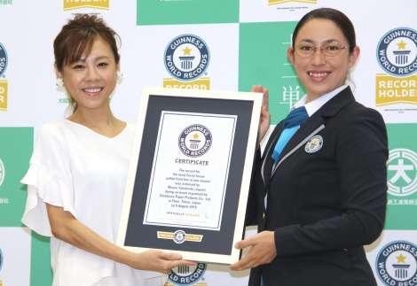 高橋真麻、ギネス世界記録保持者に 『1分間高速ティッシュ引き抜き』に成功