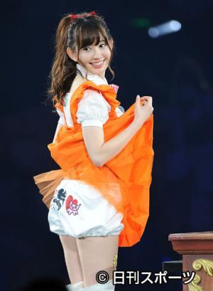 AKB48小嶋陽菜、『PON!』で下ケツ丸出し状態www「イヤらし過ぎる」と話題に