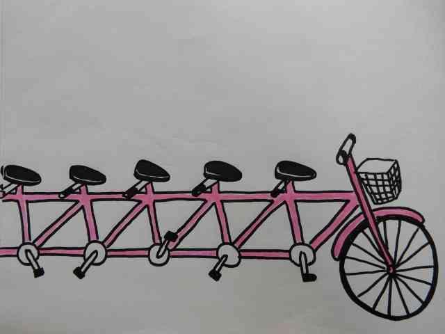 「自転車の絵かいて~」と言われたらどんな絵かきますか?