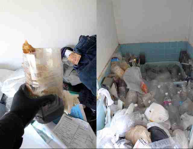 """【閲覧注意】汚部屋オンナの恐怖の実録「1000本の""""しょんペット""""」&「ゴミの圧で壁に大穴」"""