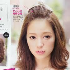 セミロングの可愛い髪型