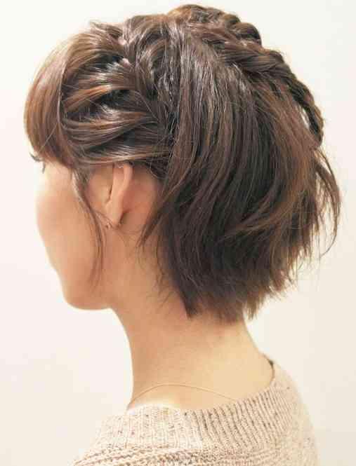 ベリーショートのヘアアレンジ