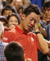 スポーツ選手の涙の写真
