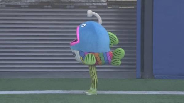千葉ロッテマリーンズ、新マスコットは進化した深海魚? うつろな表情とスリムな足にプロ野球ファン騒然