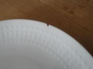欠けた食器使いますか?