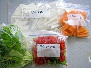 食材の冷凍保存の方法、下処理について