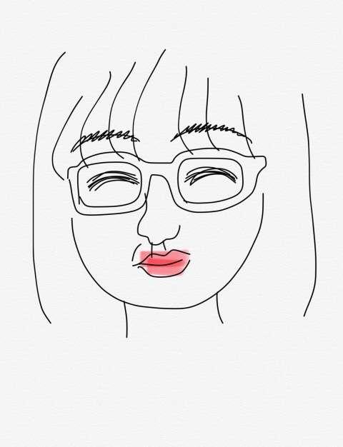 自分の似顔絵を描くトピ