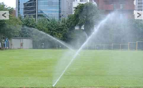 「打ち水」で足元5度涼しく=皇居外苑で五輪猛暑対策-東京都