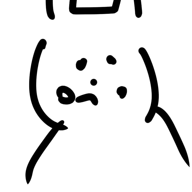 目を閉じて絵を描くトピ