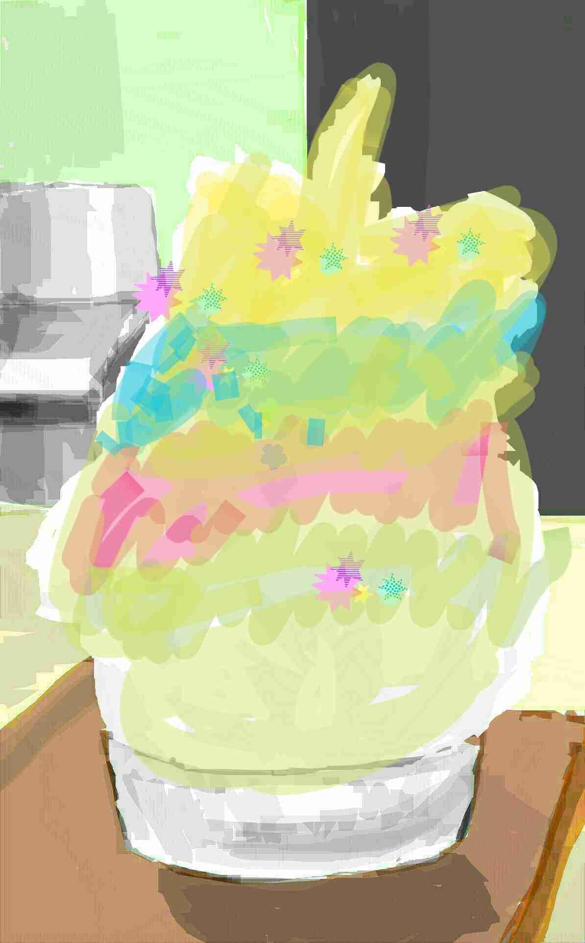 【お絵描き】このカキ氷にシロップをかけてください