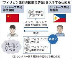 国際運転免許を偽造 中国人観光客によるレンタカー事故多発