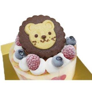 美味しそうなホールケーキを貼るトピ