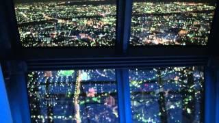 東京スカイツリーファンタジー Fantasy of TokyoSkyTree 450mからの幻想的な夜景 - YouTube