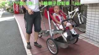 オランダ製の楽しい3輪親子自転車 Taga - YouTube